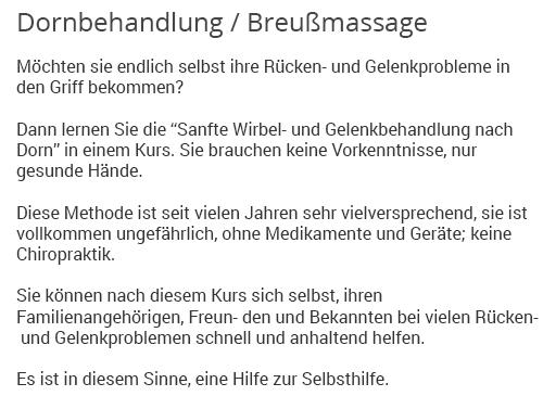 Breuss Massagen für  Backnang