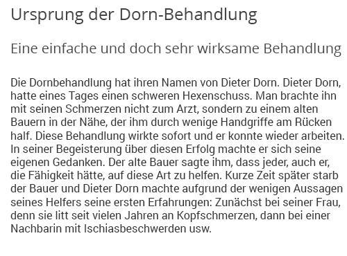 Dornbehandlung aus  Kirchberg (Murr)